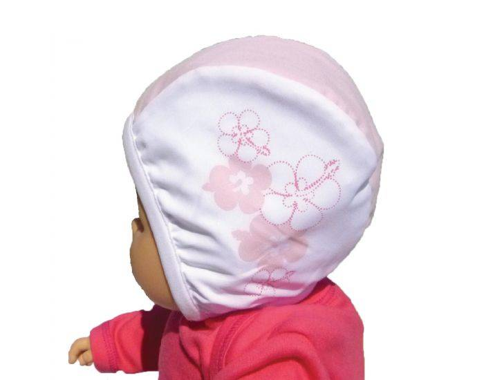 PIWAPEE Bonnet de bain bébé nageur - Vahiné rose 12-24M - TOUR TETE 49