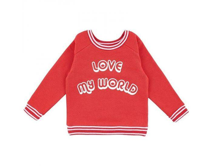 "LA QUEUE DU CHAT Sweat Bébé Bio ""Love My World""  2 ans"