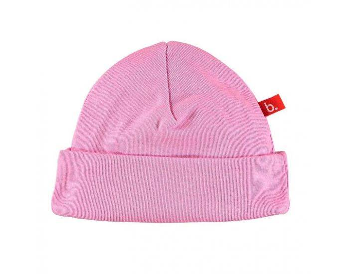 LIMOBASICS Bonnet de Naissance Coton Bio Rose Vintage
