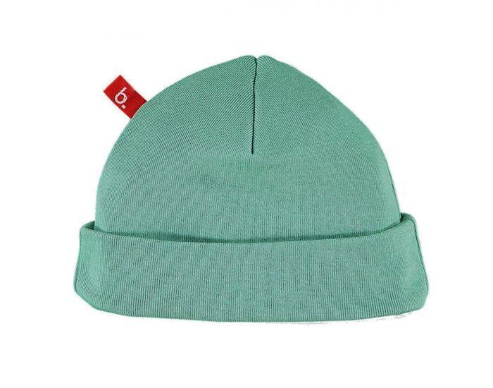 LIMOBASICS Bonnet de Naissance Coton Bio Vert