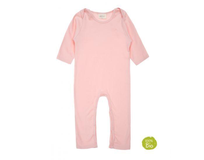 JOYAH Pyjama Bébé 100% Coton Bio - Rose Poudré 12-18 Mois