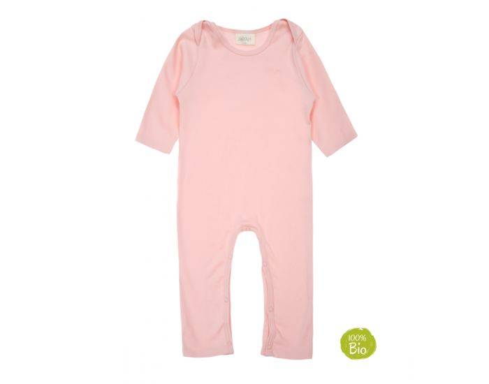 JOYAH Pyjama Bébé 100% Coton Bio - Rose Poudré 18-24 Mois
