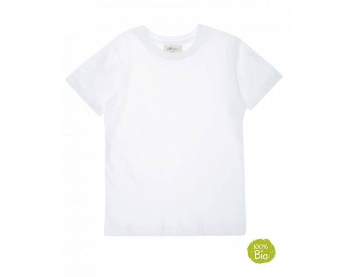 JOYAH T-shirt Enfant 100% Coton Bio - Blanc 11-12 ans