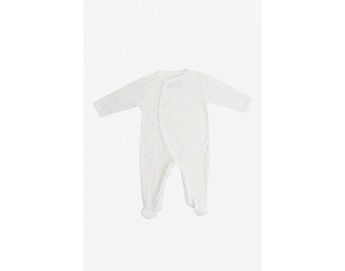 KADOLIS Pyjama Bébé été en Jersey de Coton bio - Motifs Triangles 1 mois