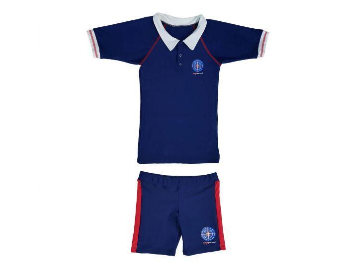 MAYOPARASOL Capitaine Mayo Parasol Ensemble Tee-shirt Manches Courtes et Shorty Anti UV Garçon Taille 6 ans