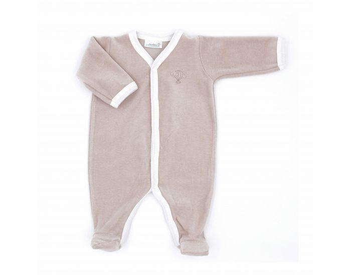 PREMIERS MOMENTS Pyjama Velours 100% coton bio- Noisette 3 mois