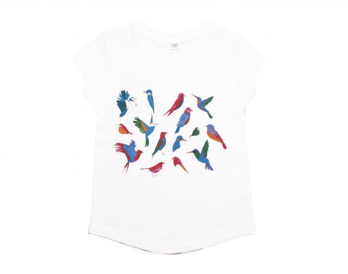 BABYBIRD T- Shirt Enfant Manches-Courtes, Motifs Oiseaux 4/5 ans