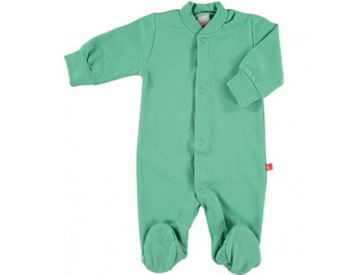 LIMOBASICS Pyjama Bébé Bio Très Doux Vert 2-3 ans