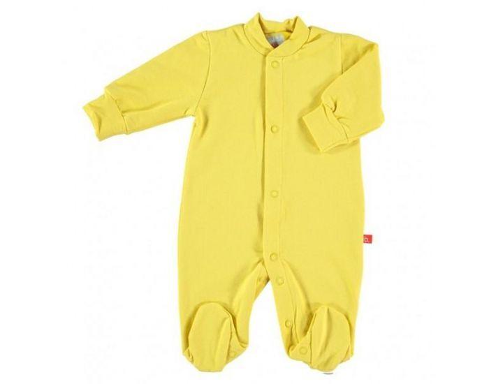 LIMOBASICS Pyjama Bébé Bio Très Doux Jaune 2-3 ans