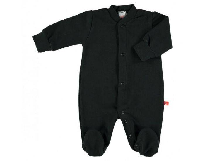 LIMOBASICS Pyjama Bébé Bio Très Doux Noir 3-6 mois