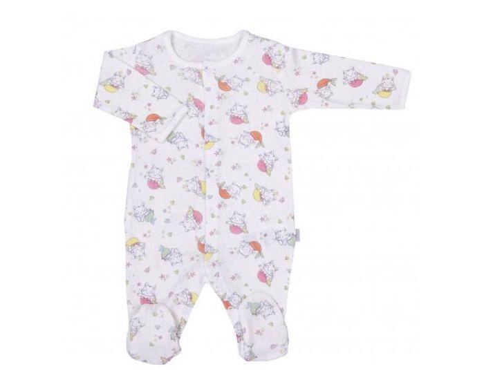 SEVIRA KIDS Pyjama Bébé en Coton Bio, MIAOU 1-3M - 56CM