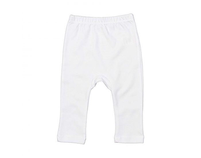 MADE IN BIO Pantalon Coton Biologique Bébé - Nihiwatu Blanc 3-6 mois