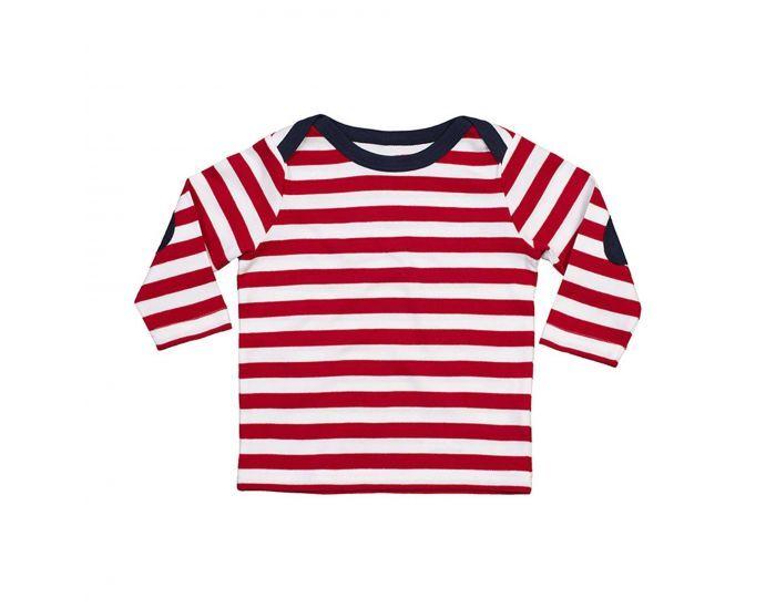 MADE IN BIO Tee shirt Bébé - Rayures rouges 18-24 Mois