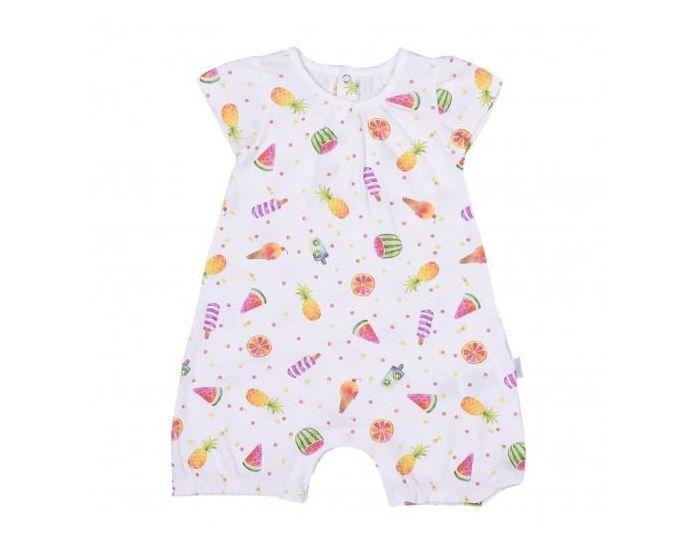 SEVIRA KIDS Combishort bébé fille en coton bio, Fruits 9-12M - 74CM