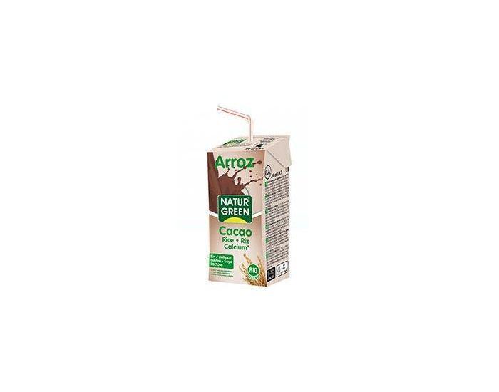 NATURGREEN Boisson Riz-Cacao-Calcium Bio  - 6x200ml