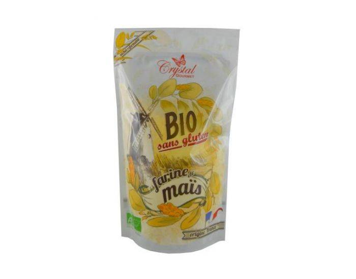 CRYSTAL GOURMET Farine de Maïs Bio sans gluten - 500 g