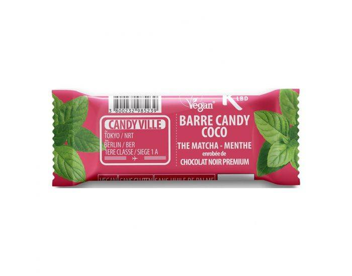 Candy VILLE Barre Candy Coco Matcha Menthe Bio - 50g