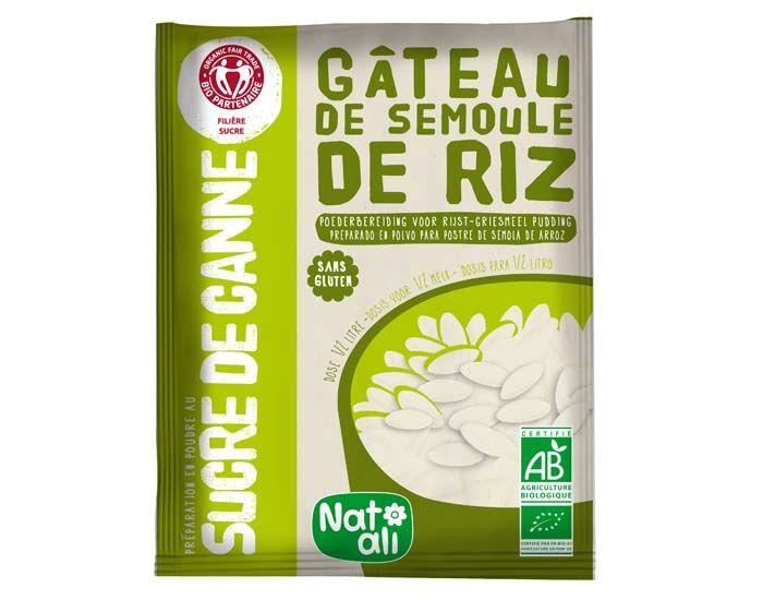 NAT-ALI Gâteau de Semoule de Riz au Sucre de Canne - Sans Gluten - 70 g