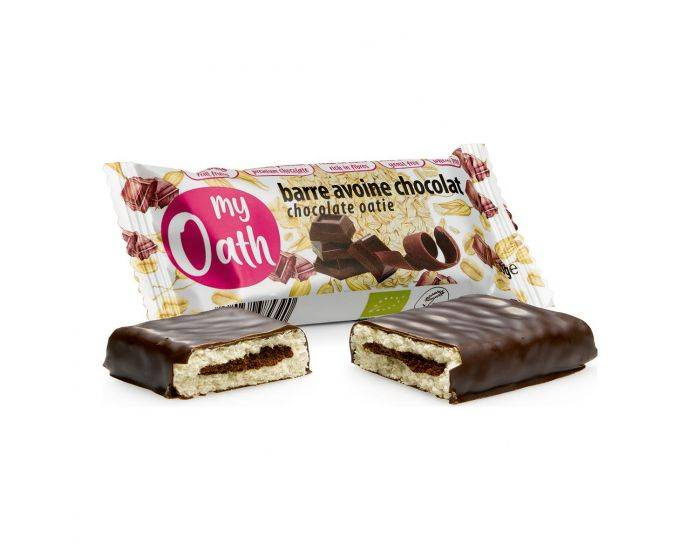 MY OATH Barre Avoine-Chocolat Enrobée De Chocolat Bio - 50g