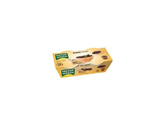 NATURGREEN Dessert Avoine-Cacao Bio - 2x125g
