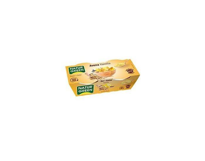 NATURGREEN Dessert Avoine-Vanille Bio - 2x125g
