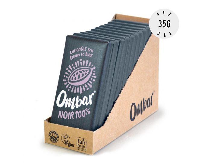 OMBAR Lot de 9+1 Chocolats Crus 100% Cacao Bio - 35g