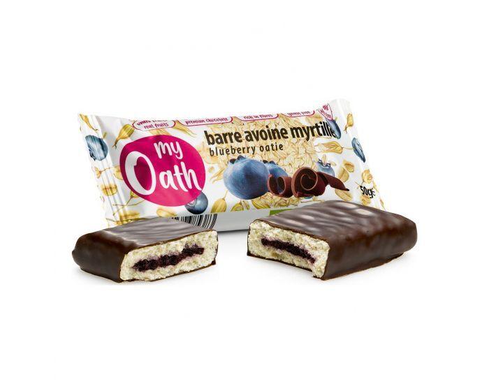 MY OATH Lot de 17+3 Barres Avoine-Myrtille Enrobée De Chocolat Bio - 50g