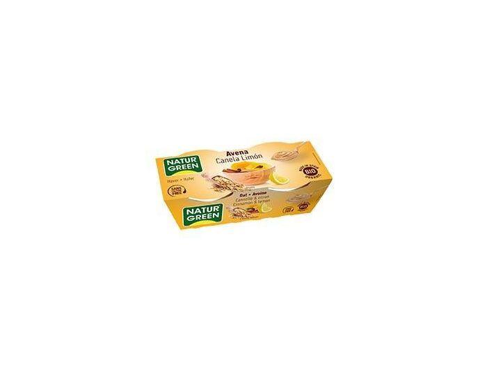 NATURGREEN Dessert Avoine Cannelle-Citron Bio - 2x125g
