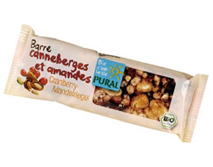 PURAL Barre aux Canneberges et Amandes - 25 g