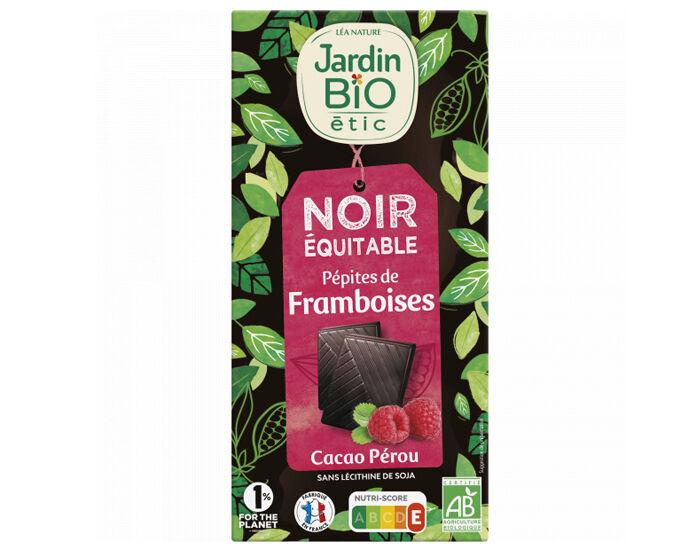JARDIN BIO Chocolat Noir Framboises - 100 g