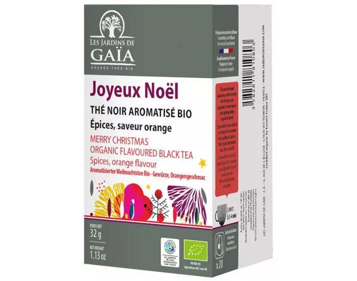 LES JARDINS DE GAIA Thé Noir Joyeux Noel - Infusettes