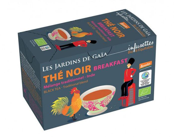 LES JARDINS DE GAIA Thé Noir Breakfast - Infusettes