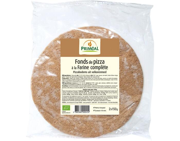 PRIMEAL Fonds de Pizza Farine Complète - 2x150g