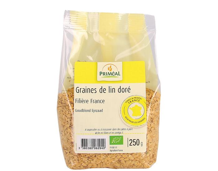 PRIMEAL Graines de Lin Doré France - 250 g