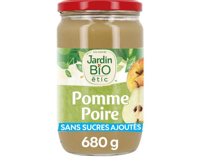 JARDIN BIO Compote Familiale Biofruits Pomme Poire Williams - 680 g