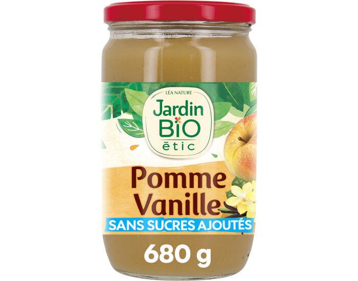 JARDIN BIO Compote Familiale Biofruits Pomme Vanille - 680 g