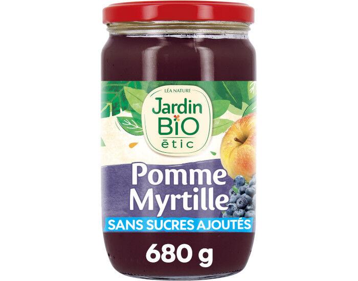 JARDIN BIO Compote Familiale Biofruits Pomme Myrtille - 680 g