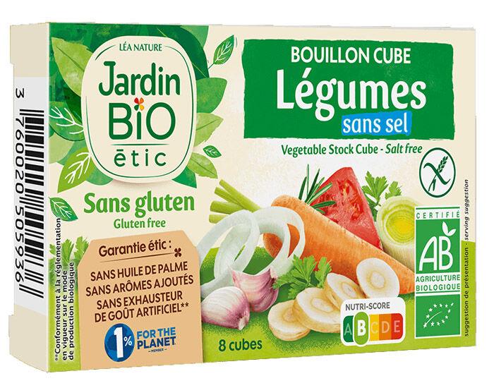 JARDIN BIO Bouillon-Cubes Légumes Sans Sel Sans Gluten 8x9g