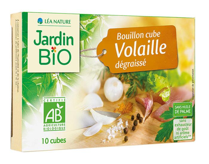 JARDIN BIO Bouillon Cube Volaille Dégraissé Sans Huile de Palme - 10 x 10 g