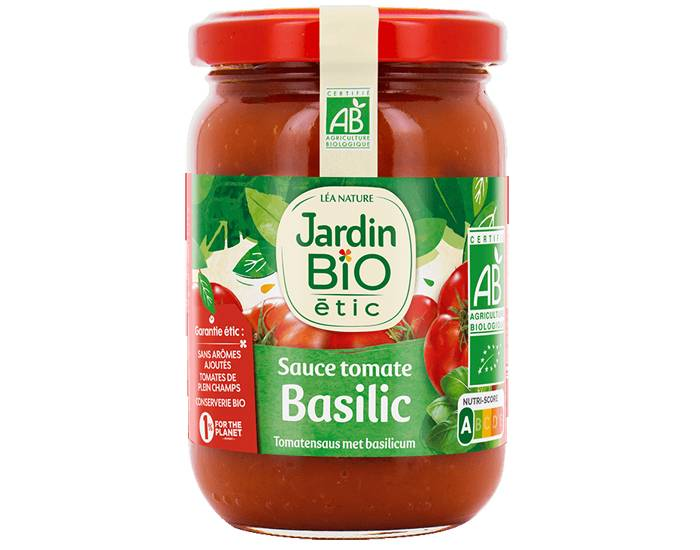 JARDIN BIO Sauce Tomate au Basilic - 200 g