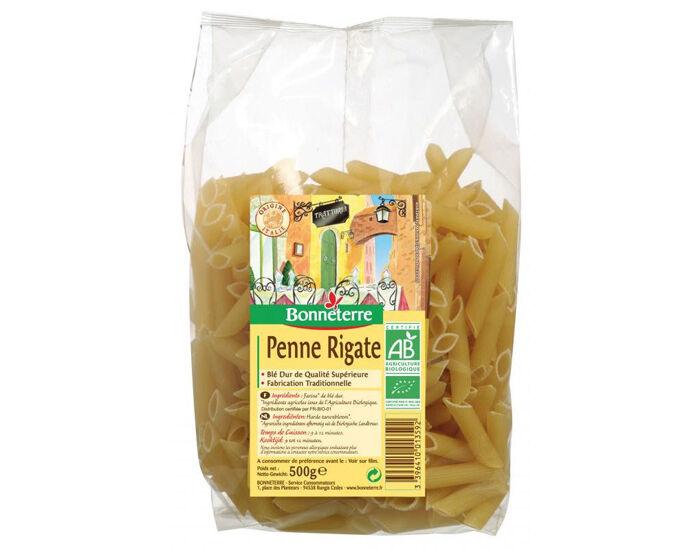 BONNETERRE Penne Rigate - Pâtes Blanches - 500g