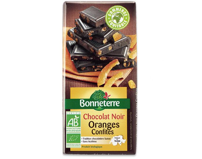 BONNETERRE Chocolat Noir Oranges Confites - 100g
