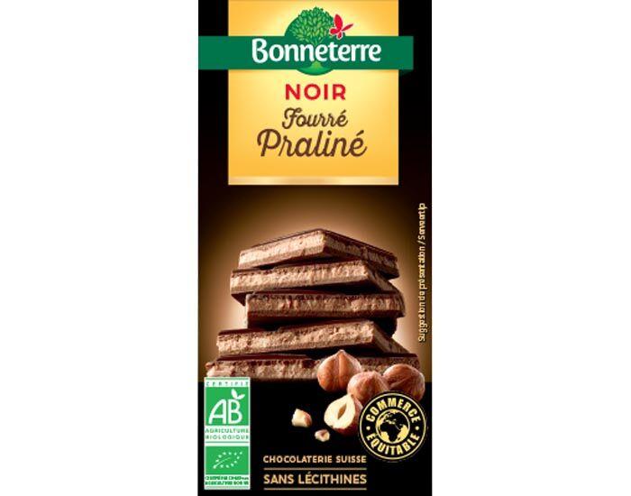 BONNETERRE Chocolat Noir Fourré Praliné - 100g
