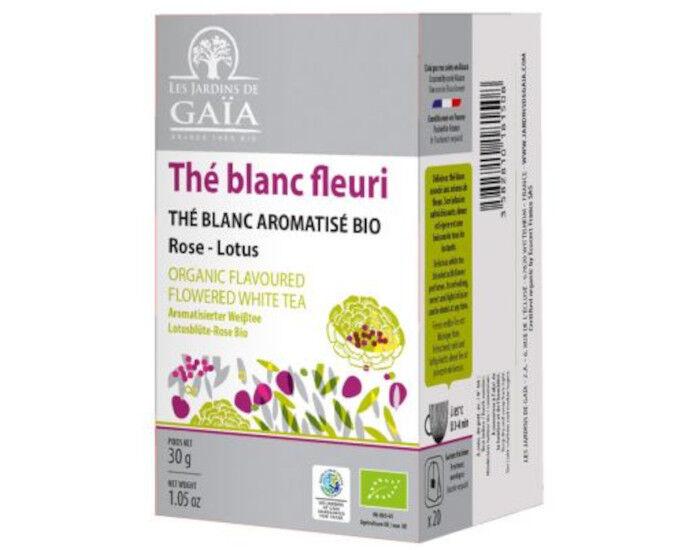 LES JARDINS DE GAIA Thé Blanc Fleuri - Infusettes