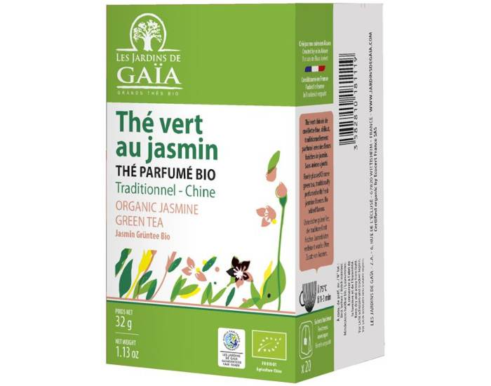 LES JARDINS DE GAIA Thé Vert Jasmin - Infusettes