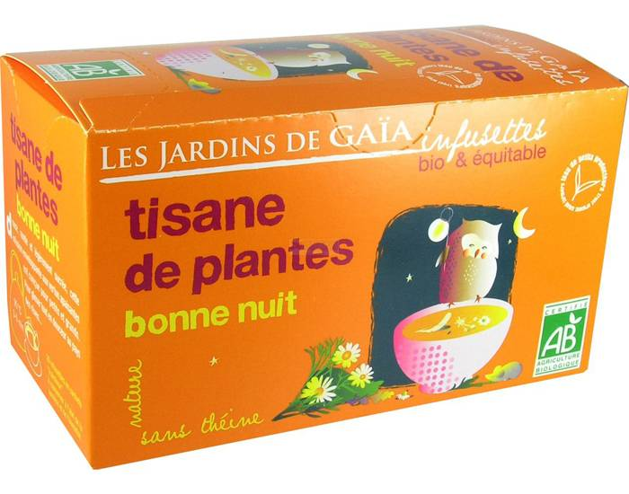 LES JARDINS DE GAIA Tisane de Plantes - Bonne Nuit - Infusettes