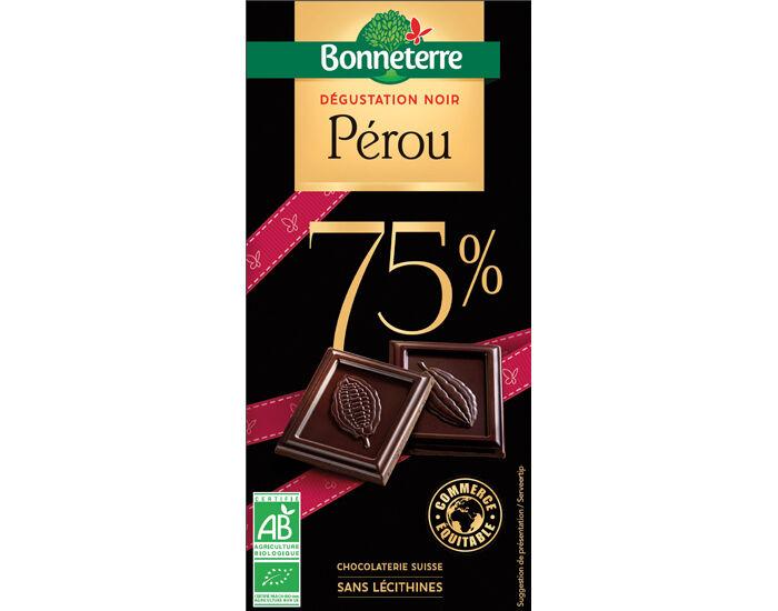 BONNETERRE Chocolat Noir 75% du Pérou - 100 g -