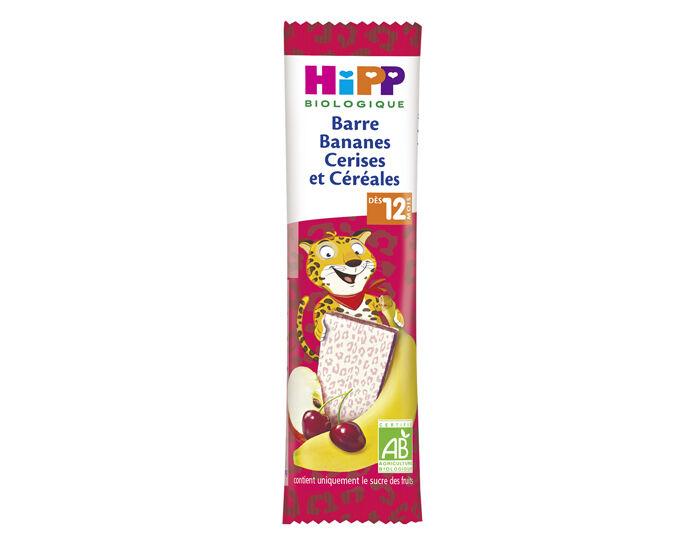 HIPP Barre Fruitée - 25g - Dès 12 Mois Bananes Cerises et Céréales