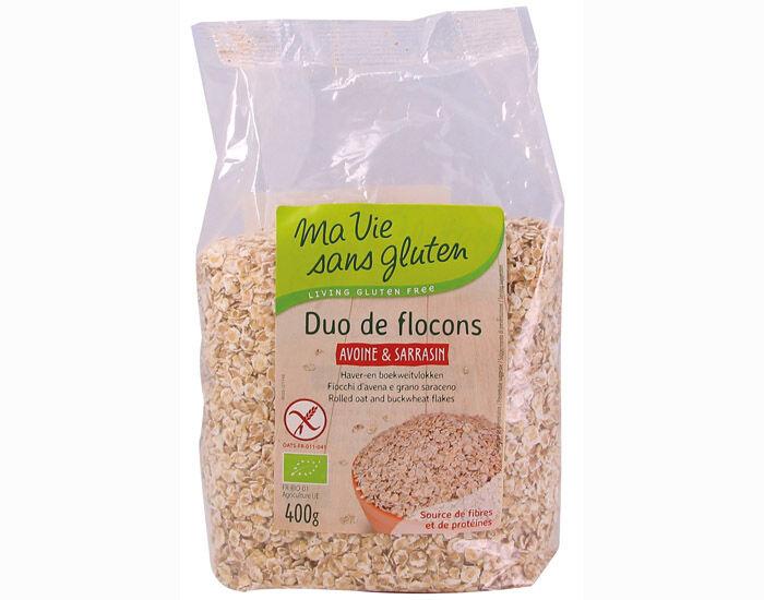 MA VIE SANS GLUTEN Duo de Flocons Avoine et Sarrasin - 400 g