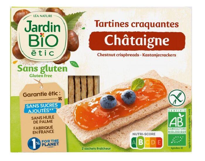 JARDIN BIO Tartines Craquantes Chataigne Sans Gluten - 150 g